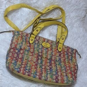 Juicy Courture Colorful Woven Straw Shoulder Bag